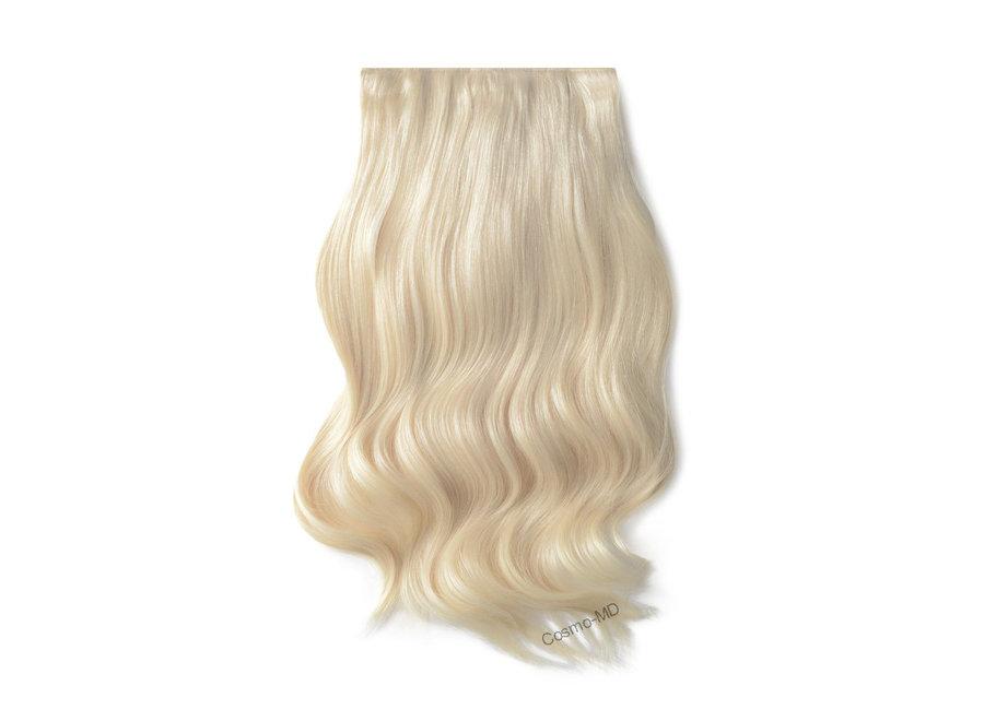 Clip in haarextensions (Steil) 50cm (180 gram), kleur #60 - Lightest Blond