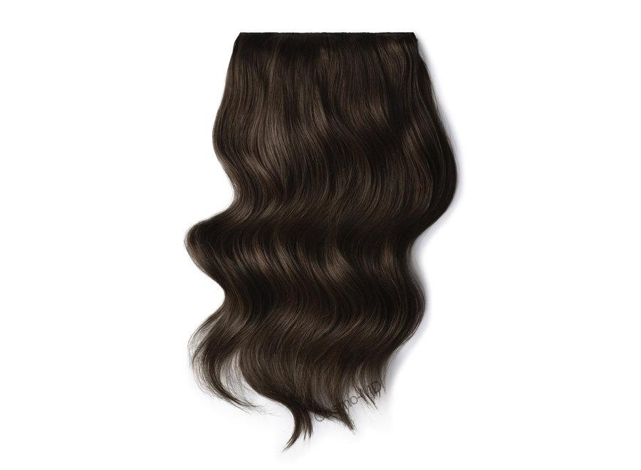 Clip in haarextensions (Steil) 50cm (180 gram), kleur #3 - Dark Brown