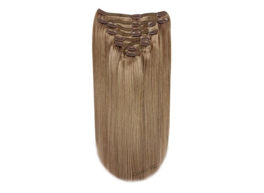 Clip in haarextensions (Steil) 50cm (180 gram), kleur #14 - Dark Blond
