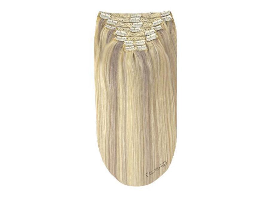 Clip in haarextensions (Steil) 50cm (180 gram), kleur #60/SS - BlondeMe