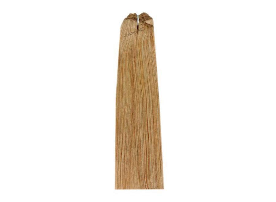 Hair extensions weave (steil) 50cm (110gram) - Kleur (#27) Strawberry/Ginger Blonde