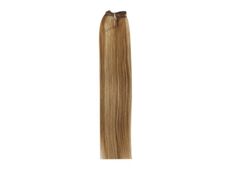 Haar extensions weave (steil) 50cm (110gram)- Kleur (#6/27) Light Brown/Ginger Blonde Mix