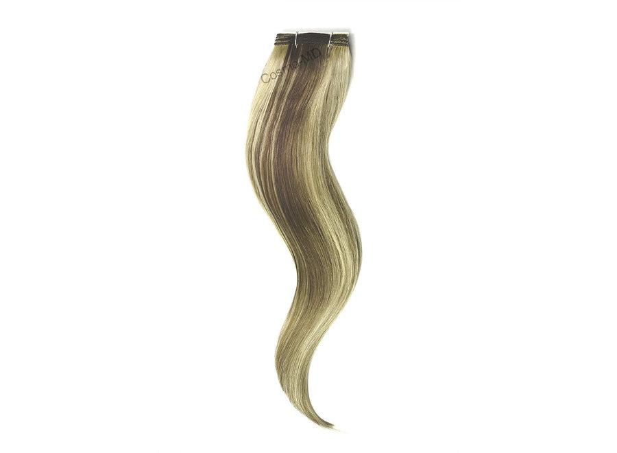 Haar extensions weave (steil) 50cm (110gram) - Kleur (#9/613) Ash Brown/Bleach Blonde Mix