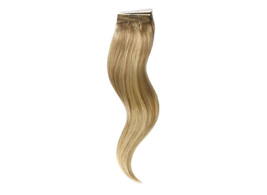 Haar extensions weave (steil) 50cm (110gram) - Kleur (#18/613) Lightest Brown/Bleach Blonde Mix