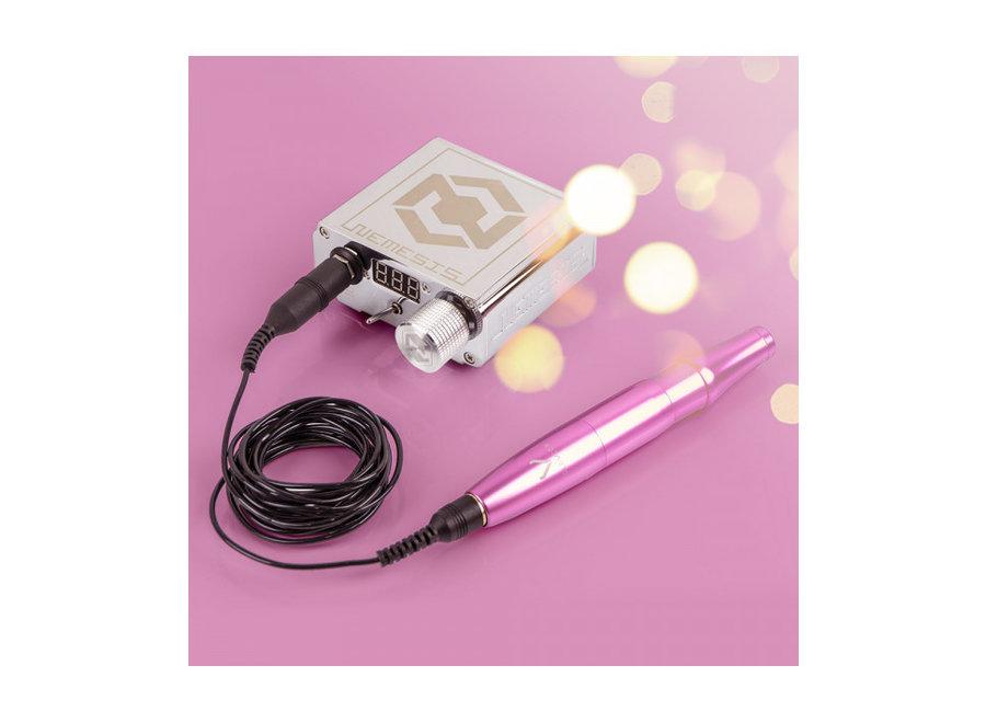 PMU-Set Nemesis Silver / Glovcon Pen  Pink