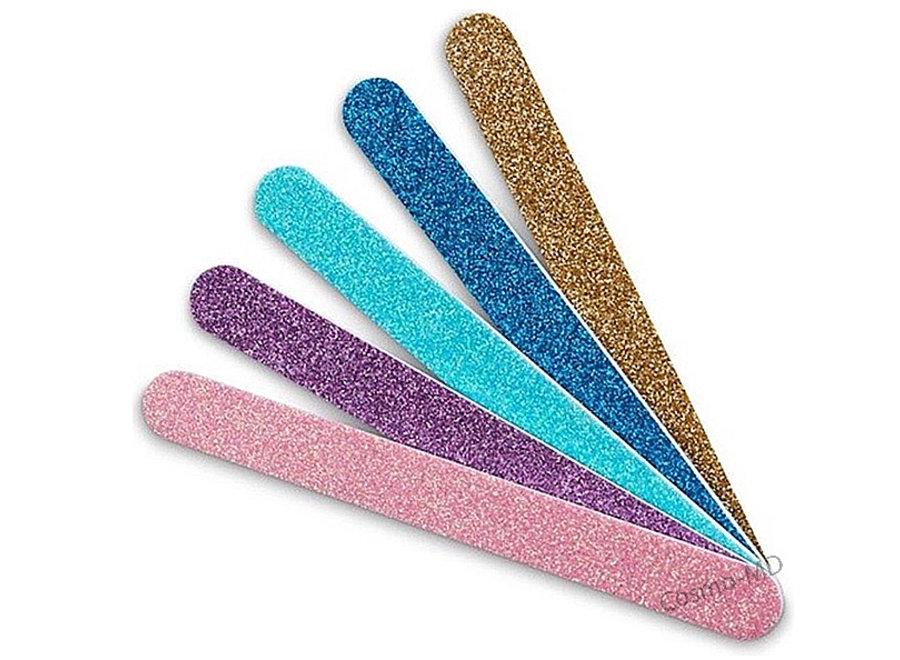 Glitter Nagel Vijlen - Manicure - Pedicure - Per Stuk - Licht Blauw