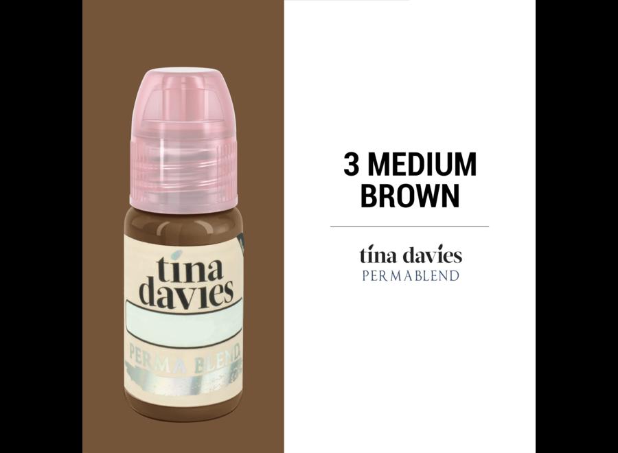 PERMA BLEND - TINA DAVIES - 3 MEDIUM BROWN