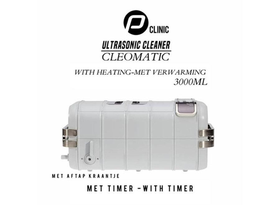 """Ultrasoon reiniger """"Cleomatic 3000"""" met Verwarming en Timer"""