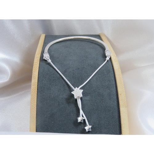 HYKS armbanden Zilveren 925 Pandora Armband met Snake-Chain stijl en schuifsluiting