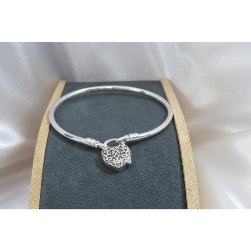 HYKS armbanden Zilveren 925 Hangslot armband