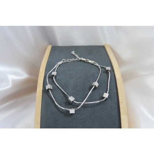 HYKS armbanden Zilveren 925 vierkantjes Armband