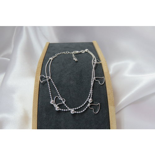 HYKS armbanden Zilveren 925 Armband met bolletjes schakel en hartjes