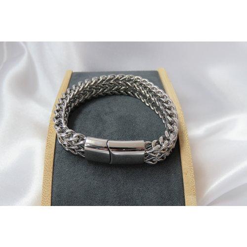 HYKS armbanden Stalen schakel armband