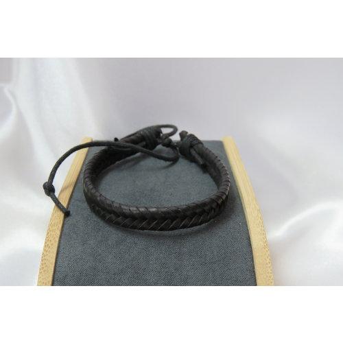 HYKS armbanden Leren verstelbare vissengraat Armband