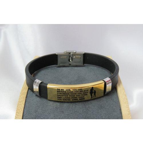 HYKS armbanden Heren Armband met Inscriptie
