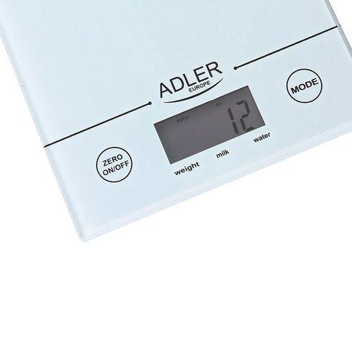 Adler AD3138 - Keukenweegschaal wit