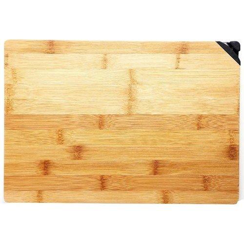 Bergner Bamboe snijplank met messenslijper
