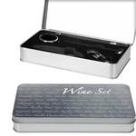 Excellent Houseware Wijnaccessoires set in blikken box