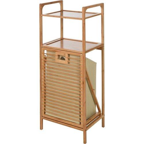 Bathroom Solutions Bamboe Badkamerrek met 2 rekken en wasmand