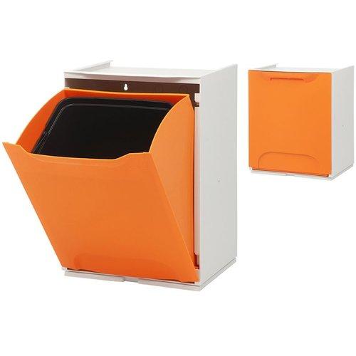 Duett - Afvalbak voor Recycling - Vrijstaand - Stapelbaar - Wandmontage - Oranje