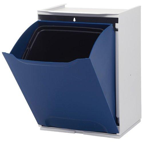Duett - Afvalbak voor Recycling - Vrijstaand - Stapelbaar - Wandmontage - Blauw