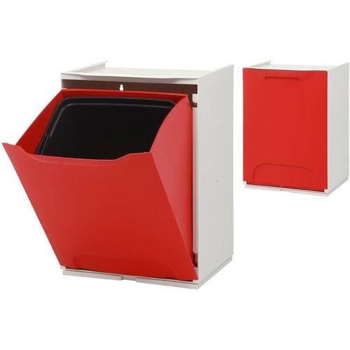 Duett - Afvalbak voor Recycling - Vrijstaand - Stapelbaar - Wandmontage - Rood
