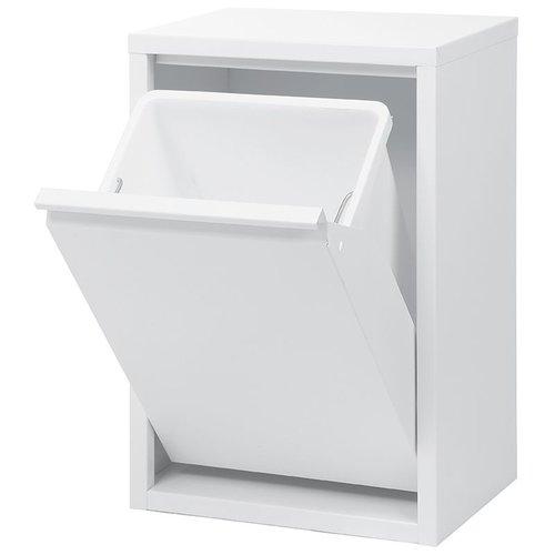 Duett - Afvalbak voor Recycling - Vrijstaand - Enkele Bak - Wit