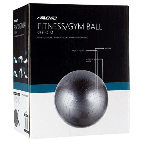 Avento Fitnessbal 65 cm zilverkleurig