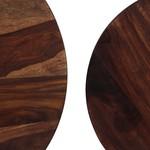 2-delige Salontafelset 60x35 cm massief sheeshamhout