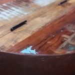 2-delige Salontafelset komvormig massief gerecycled hout