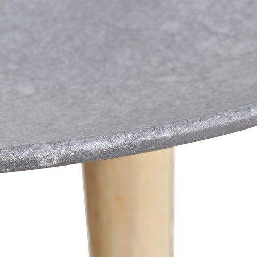 2-delige Tafelset 55 en 44 cm betongrijs
