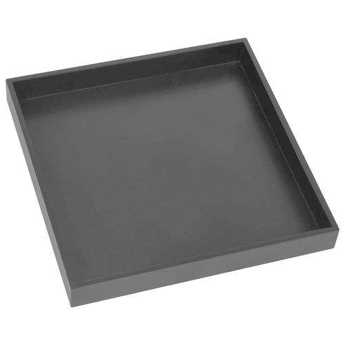 Bijzettafel 38x38x38,5 cm MDF zwart en goudkleurig