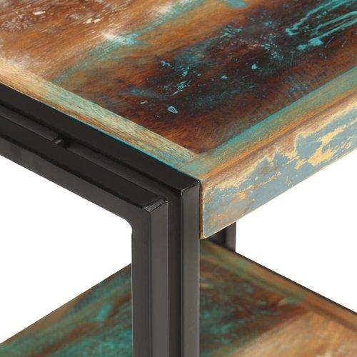 Bijzettafel 40x30x40 cm massief gerecycled hout