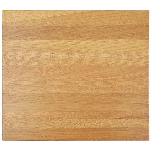Bijzettafel 27x24x37 cm massief eikenhout