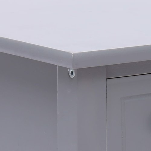 Bijzettafel 40x40x40 cm paulowniahout grijs