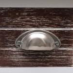 Bijzettafel 40x40x40 cm paulowniahout bruin