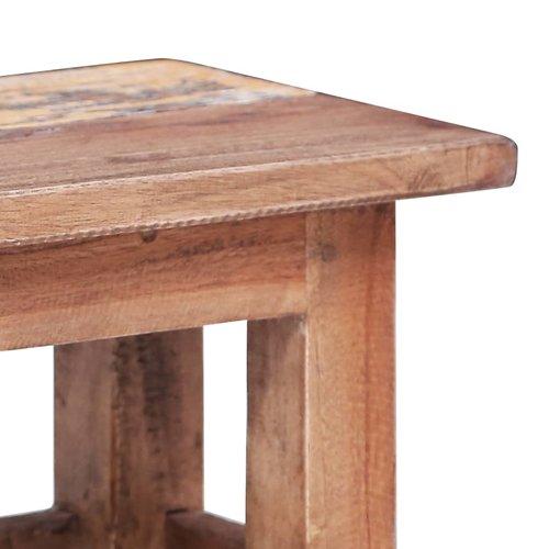 2-delige Tafeltjesset massief gerecycled hout