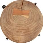 2-delige Bijzettafelset massief acaciahout