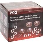 Bevestigingsset voor Kerstverlichting - 202 delig
