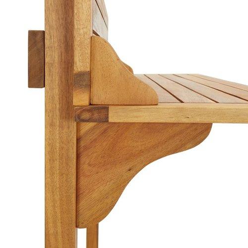 Balkonbartafel 90x37x122,5 cm massief acaciahout
