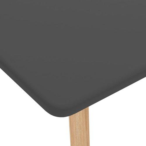 Bartafel 120x60x105 cm MDF en massief beukenhout grijs