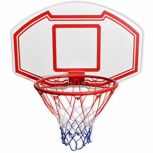 Basketbal achterpaneel set wandgemonteerd 90x60 cm
