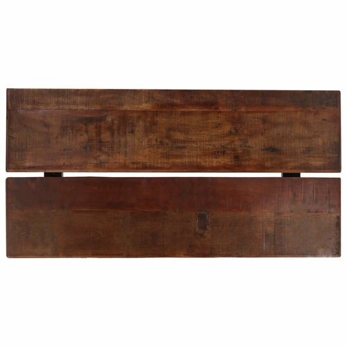 Bartafel 150x70x107 cm massief gerecycled hout donkerbruin