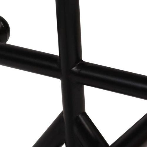 Bartafel 60x60x107 cm massief gerecycled hout meerkleurig