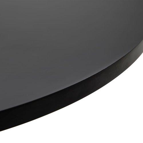 Bartafel Ø60 cm MDF zwart