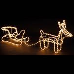 3D Rendier met Slee lichtslang - 324 Lampjes