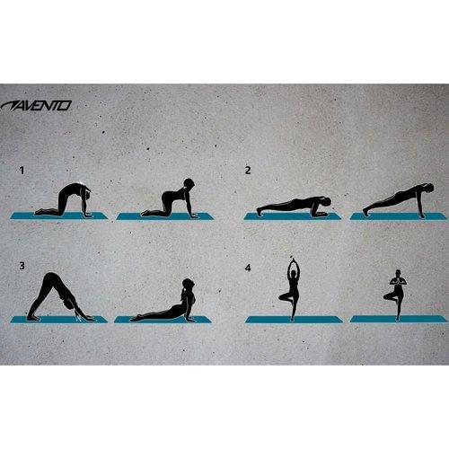 Avento Fitness-/yogamat NBR-schuim grijs