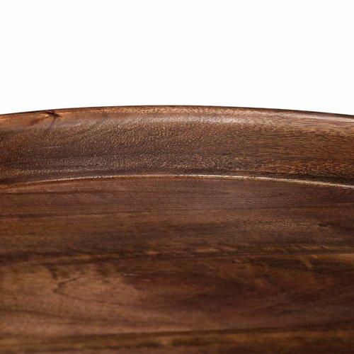 3-delige Tafelset massief mangohout en staal