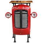 Bartafel tractor 60x60x107 cm massief mangohout rood