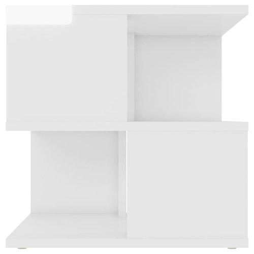 Bijzettafel 40x40x40 cm spaanplaat hoogglans wit